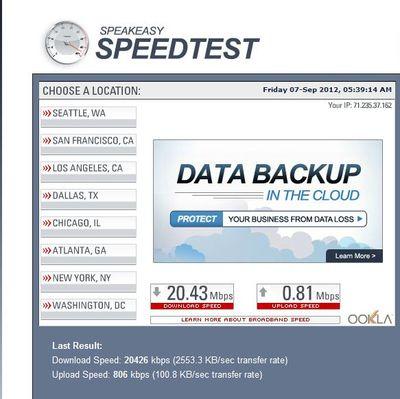 Speed Test Capture 2